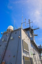 Radar tower on battleship htms chakri naruebet thai royal Royalty Free Stock Photography