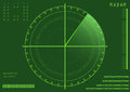 Radar vector illustration of a green with details and scanning Royalty Free Stock Photography