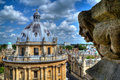 Radcliffe Camera & University Church gargoyle, Oxford Royalty Free Stock Photo