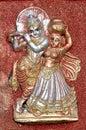 Radha Krishna clay idol