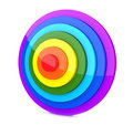 Radial 3D Rainbow Royalty Free Stock Photo