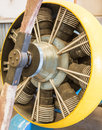Radial airplane engine a retro nine cylinder Stock Image