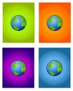 Radial Center Earth Backgrounds Stock Photography