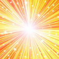 Radial glow with rays and stars Royalty Free Stock Image