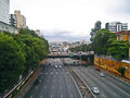 Radial leste expressway crossing the liberdade district in são paulo Stock Photography