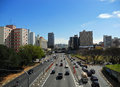 Radial leste expressway crossing the liberdade district in são paulo brazil Stock Images