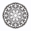 Radial pattern contour monochrome butterfly Royalty Free Stock Images