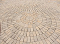 Radial paving stone pattern Royalty Free Stock Photo