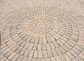 Radial paving stone pattern Royalty Free Stock Photo