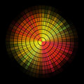 Radial red and yellow mosaic. Royalty Free Stock Photo