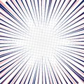 Radial speed lines fast motion background with circles halftone