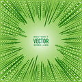 Radial speed lines of green rays and white circles. Ecological, natural festive illustration. Background spring, summer Royalty Free Stock Photo