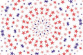 Radial Stars wallpaper background Royalty Free Stock Photo