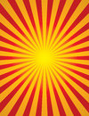 Radial sun burst star burst bright yellow and red start Royalty Free Stock Image