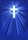 Radiant cross a radiating heavenly light Royalty Free Stock Photography