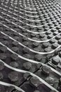 Radiant underfloor heating flexible tubing Royalty Free Stock Photo