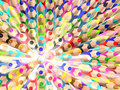 Radiate crayons. Abstract texture. Stock Photo
