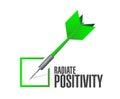 Radiate Positivity check dart sign concept Royalty Free Stock Photo