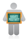 Radiate positivity icon sign concept illustration design over white Royalty Free Stock Photos