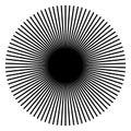 Radiating, radial lines. Starburst, sunburst shape. Ray, beam li