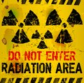 Radiation area warning sing illustration Royalty Free Stock Photography