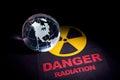 Radiation hazard sign for background Royalty Free Stock Image