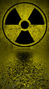 Radiation hazard symbol ionizing reflected in water surface Royalty Free Stock Photography