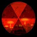 Radiation hazard warning sign Royalty Free Stock Photo