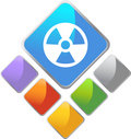 Radiation Icon Stock Image