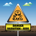 Radiation risk sign Royalty Free Stock Photo