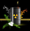 Radiation sign barrel Royalty Free Stock Photos