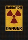 Radiation sign grunge background vector illustration Royalty Free Stock Photo