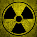 Radiation symbol ionizing hazard Royalty Free Stock Images