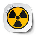 Radiation symbol label Royalty Free Stock Photography