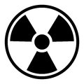 Radiation symbol sign basic isolated on a white background with clipping path perfect for a design element Stock Photo