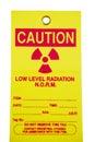 Radiation Tag Royalty Free Stock Photo