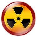 Radiation warning sign Royalty Free Stock Photos