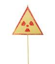 Radiation warning sign Royalty Free Stock Photo
