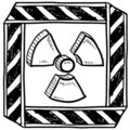 Radiation warning sketch Royalty Free Stock Images