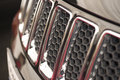 Radiator grille close up image of a suv car Stock Photo
