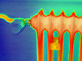 Radiator thermography Royalty Free Stock Photo