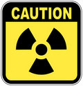 Radio active caution sign Royalty Free Stock Images