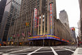 Radio city music hall nyc new york jan street view of in midtown manhattan on jan this historic theater in rockefeller center Stock Image