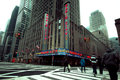 Radio city music hall nyc new york jan street view of in midtown manhattan on jan this historic theater in rockefeller center Royalty Free Stock Image