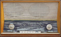 Radio classic vintage receiver with big multi band scale dial Royalty Free Stock Image