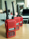 Radio communication used in the factory Royalty Free Stock Photo