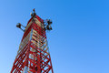 Radio communications tower Royalty Free Stock Photo