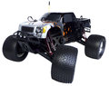 Radio control nitro powered monster truck cc isolated on white background Stock Photography
