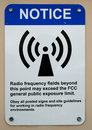 Radio fields warning sign Royalty Free Stock Images