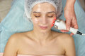 Radio frequency skin tightening device. Royalty Free Stock Photo
